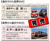 2000系A編成、D編成特急列車最終共演記念特急乗車券(完売)